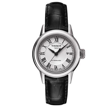 TISSOT T-Classic 經典大三針機械腕錶(黑-29mm-T0852071601300)