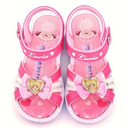 童鞋城堡-真珠美人魚 中大童 蝴蝶結造型涼鞋PI4250-粉