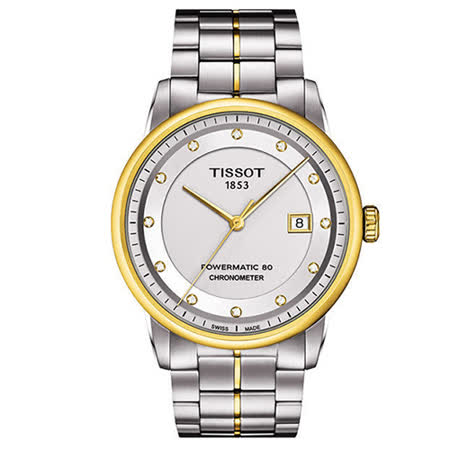 TISSOT T-Classic Luxury系列鑽機械腕錶(銀-41mm-T0864082203600)