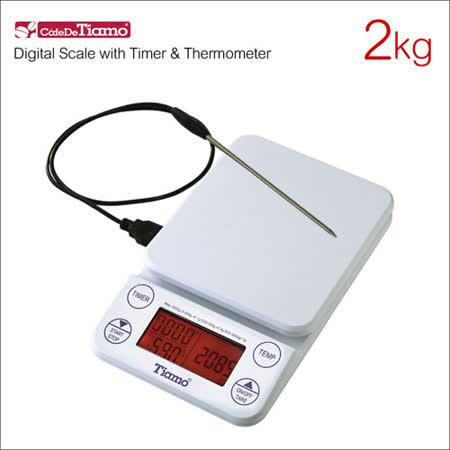 Tiamo KS-9005 計時感控電子秤(橘光版)-白 2kg (HK0519W)