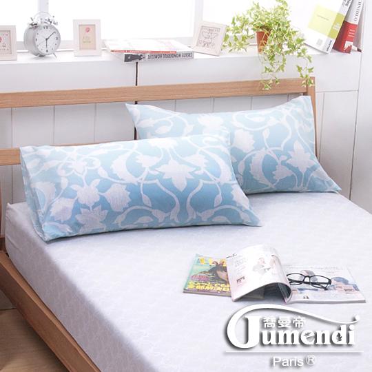 【法國Jumendi-藍天國度】台灣製活性柔絲絨枕套-2入