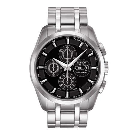TISSOT Couturier 建構師設計系列7750計時機械錶-43mm/T0356141105100