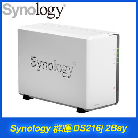 Synology 群暉 DiskStation DS216j 2Bay NAS 網路儲存伺服器