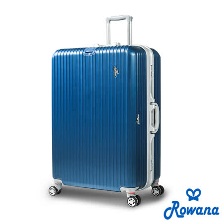 Rowana 美式率性掛扣鋁框行李箱 29吋(藍色)