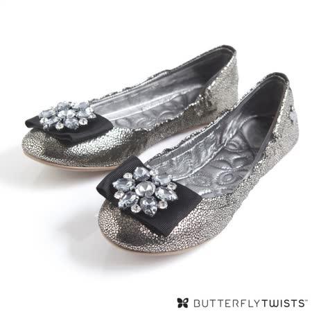 BUTTERFLY TWISTS - LILAH可折疊扭轉芭蕾舞鞋小羊皮款-經典黑