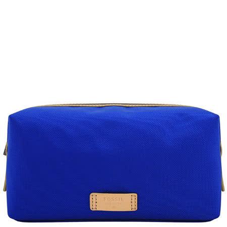 FOSSIL 化妝包/收納包-寶藍色【大型 】