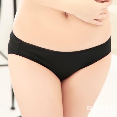 岱妮蠶絲 - (FA023E-L)素色低腰三角女內褲(黑色)