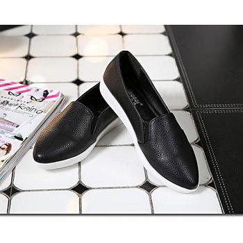 ALicE (預購)Y1096-9 韓風素面簡約休閒鞋 -黑