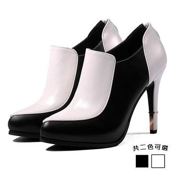 ALicE (預購)Y1059 韓風時尚OL尖頭高跟鞋 (黑/白)