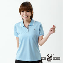 【遊遍天下】MIT台灣製女款抗UV涼爽吸濕排汗機能POLO衫S139水藍