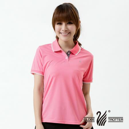 【遊遍天下】MIT台灣製女款抗UV涼爽吸濕排汗機能POLO衫S139粉紅