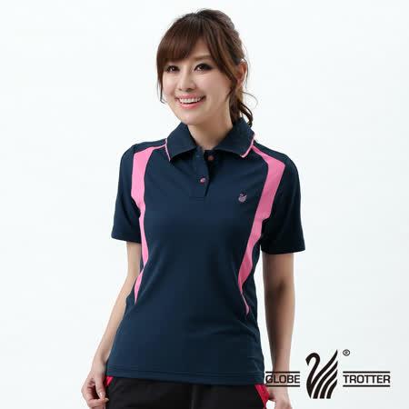 【遊遍天下】MIT台灣製女款抗UV涼爽吸濕排汗機能POLO衫S141藍色