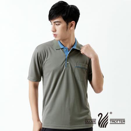 【遊遍天下】MIT台灣製男款抗UV涼爽吸濕排汗機能POLO衫S134深灰