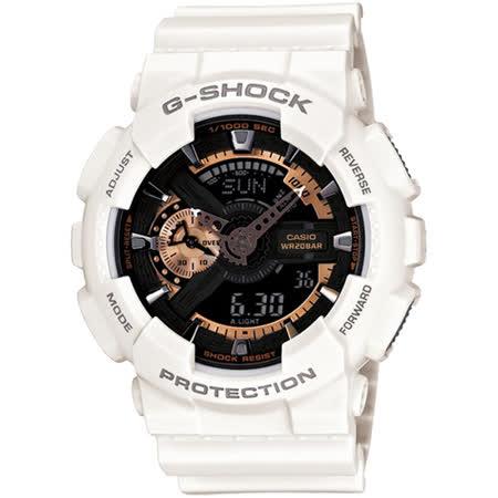 G-SHOCK 重裝美學白金機械感 運動腕錶-GA-110RG-7A/ 聖誕禮物