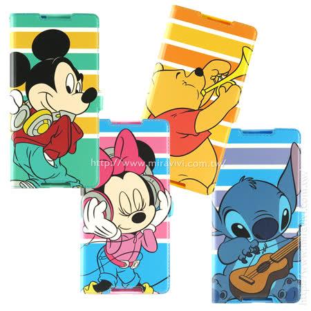 Disney SONY Xperia C5 音樂人物隱磁側掀皮套