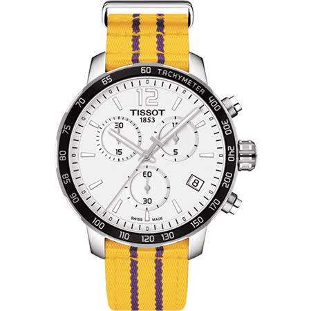TISSOT天梭 X NBA :洛杉磯湖人隊特別版腕錶-42mm T0954171703705