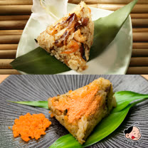 【大嬸婆】野薑花粽饗宴組(野薑花粽*20入+飛魚卵肉粽*20入)