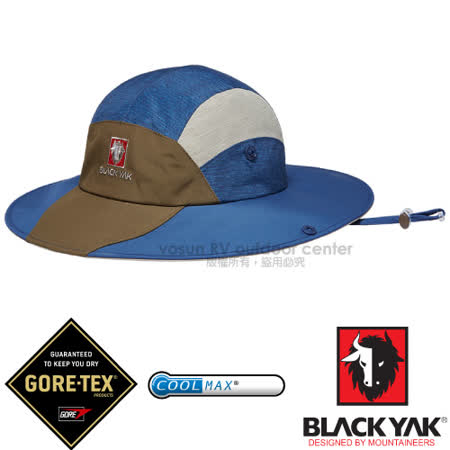 【韓國 BLACK YAK】男新款 潮流暢銷款GORE-TEX防風防水遮陽圓盤帽.大盤帽.遮陽帽.休閒帽.牛仔帽/COOLMAX吸濕排汗纖維/BY161MAH0154 藍色
