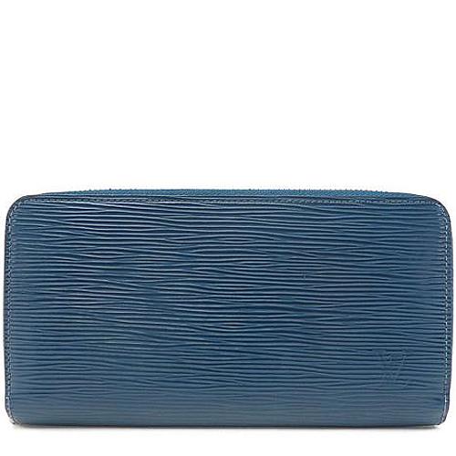 Louis Vuitton LV M60307 EPI 水波紋多 拉鍊長夾.靛藍色_