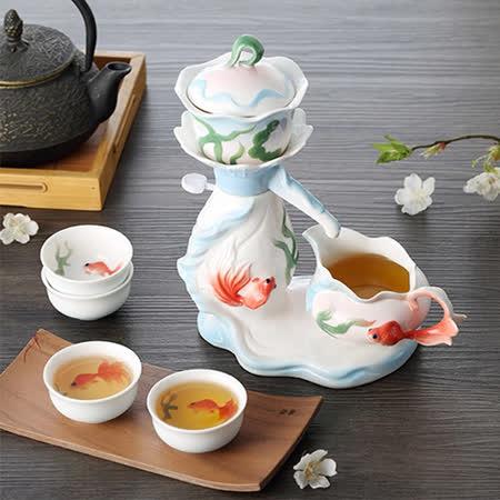 【好物推薦】gohappy【The simple Life 】游魚戲水茶具七件組有效嗎快樂 購 卡 點 數