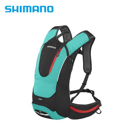 SHIMANO ROKKO 全功能背包 8L 黑/鉻綠色