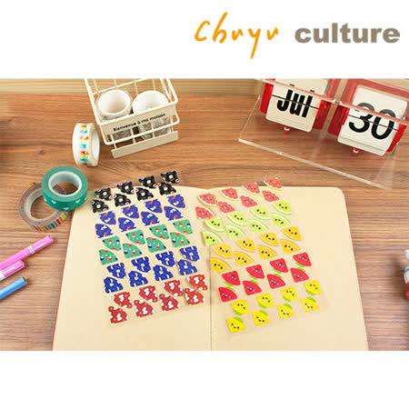 珠友 ST-30060 DIY手作造型角貼/手帳 日誌 相冊 日記 拍立得 卡片裝飾貼/貼紙/1入