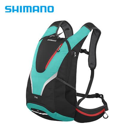 SHIMANO ROKKO 全功能背包 16L 黑/鉻綠色