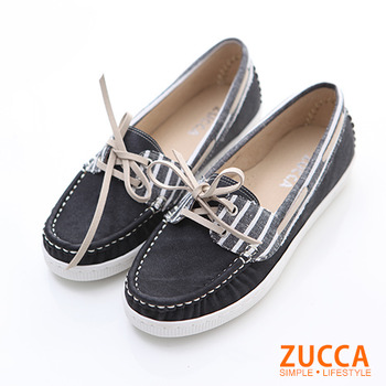 ZUCCA【Z5911BK】日系皮革綁帶休閒包鞋-黑色