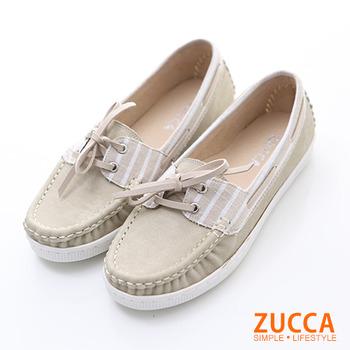 ZUCCA【Z5911WE】日系皮革綁帶休閒包鞋-白色