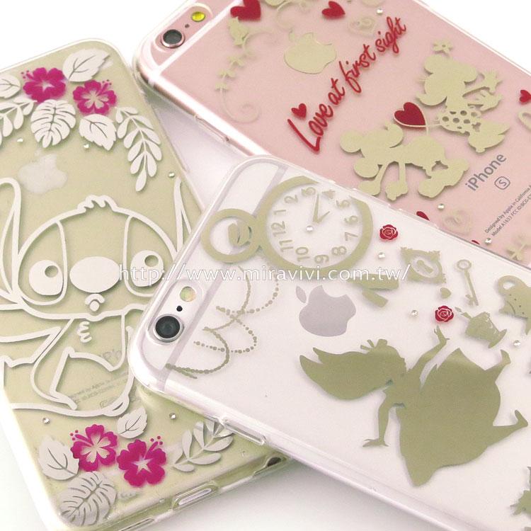 Disney iPhone 6/6s 時尚質感電鍍系列彩繪保護套