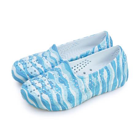 【女】PONY 防水透氣GOGO走路鞋 Tropic系列 水波白 62U1SA66PB