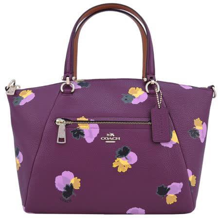 COACH PRAIRIE 印花皮革手提/斜背包(玫紫)