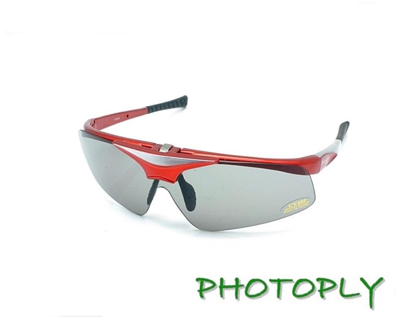 可掀蓋PHOTOPLY大聯盟太陽眼鏡 紅 POLARIZER寶麗萊偏光太陽眼鏡片