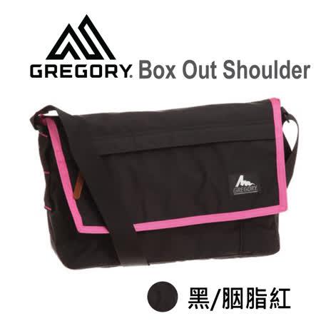 【美國Gregory】Box Out Shoulder日系休閒郵差包 (黑/胭脂紅)
