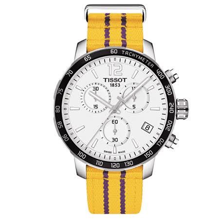 天梭 TISSOT X NBA 洛杉磯湖人隊特別版石英腕錶-42mm/T0954171703705