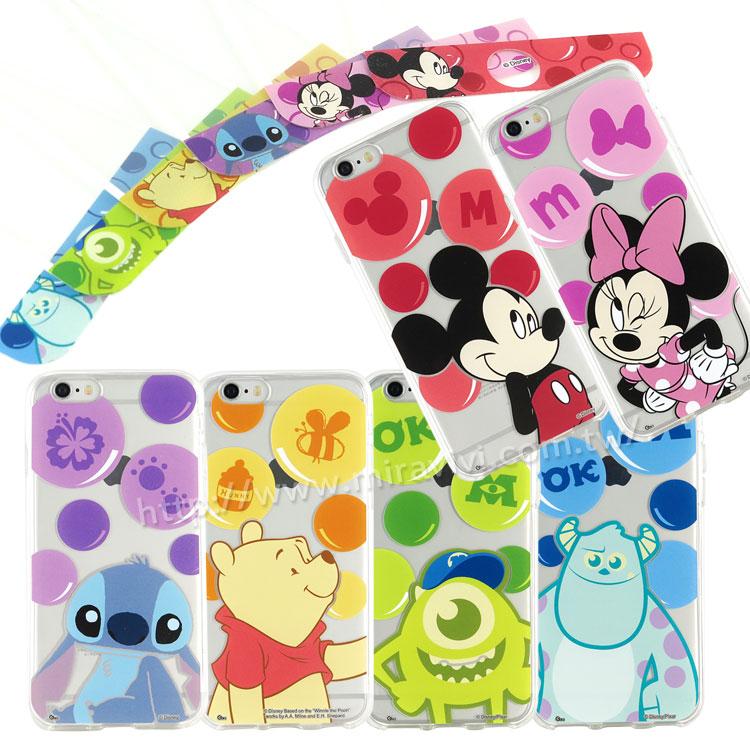 Disney iPhone 6/6s 泡泡系列玻璃保護貼+彩繪保護軟套