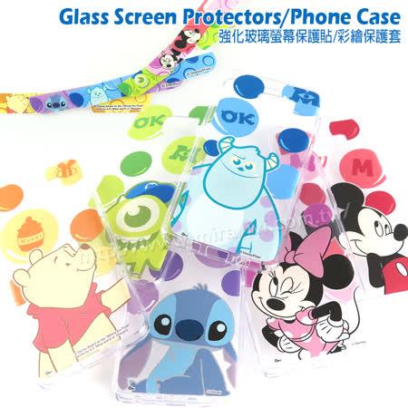 Disney Samsung Galaxy Note 5 泡泡系列玻璃保護貼+彩繪保護軟套