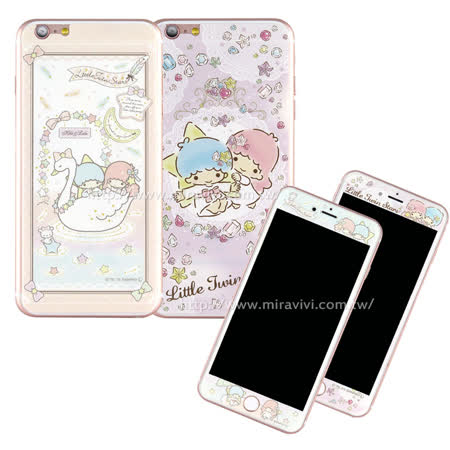 Sanrio iPhone 6 Plus/6s Plus 雙面強化玻璃彩繪保護貼-kikilala