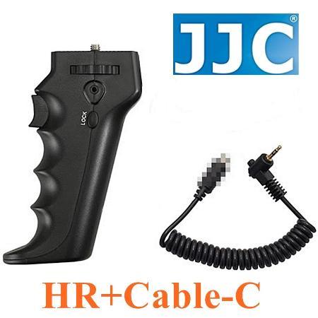JJC槍把握把手柄快門線遙控器相容佳能Canon原廠RS-60E3快門線HR+Cable-C(可換線設計給不同品牌相機)