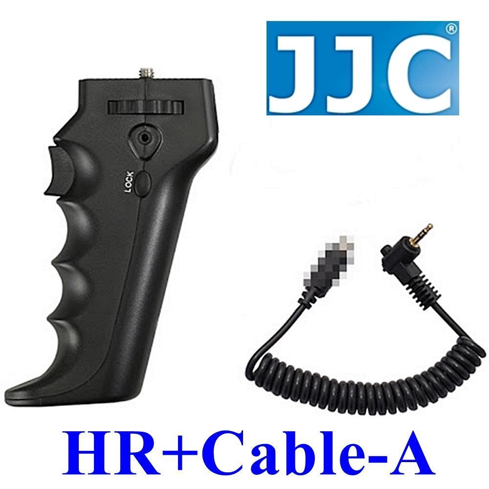 JJC槍把握把手柄快門線遙控器相容佳能Canon原廠RS-80N3快門線HR+Cable-A(可換線設計給不同品牌相機)