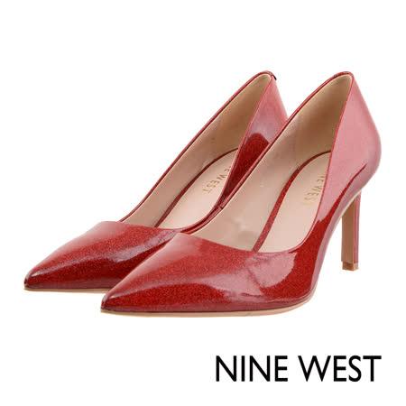 NINE WEST--漆皮尖頭高跟鞋