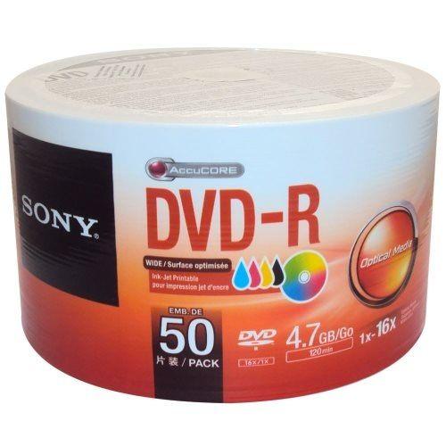 SONY 16X 4.7GB DVD-R 3760dpi 珍珠白滿版可印式 光碟片 X 600片 裸裝