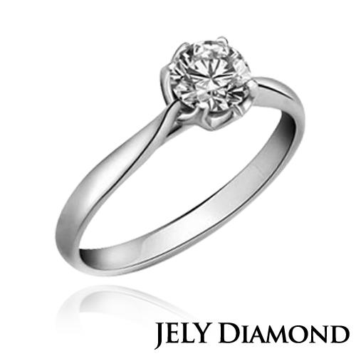 【JELY】浪漫0.30克拉/F/VS2/H&A八心八箭美鑽戒指