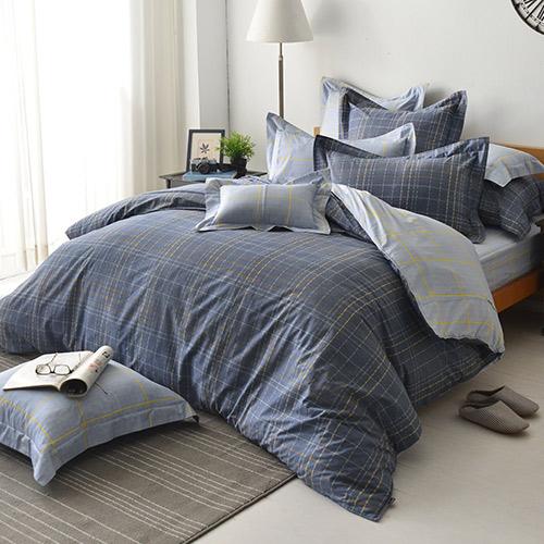 義大利La Belle~簡約格調~雙人四件式防蹣抗菌舖棉兩用被床包組