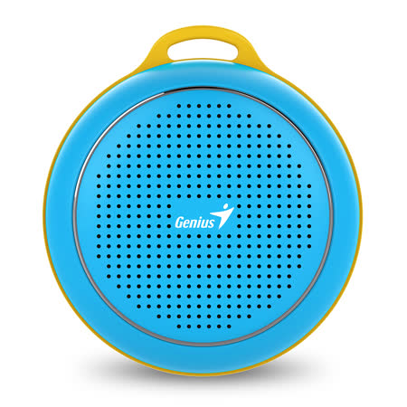 Genius 昆盈 SP-906BT 便攜型藍牙無線喇叭(湛粉藍)