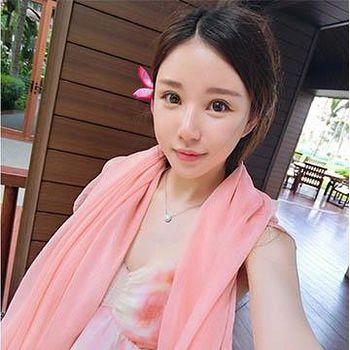 窩自在 雪紡沙灘絲巾-粉色 (160X110)