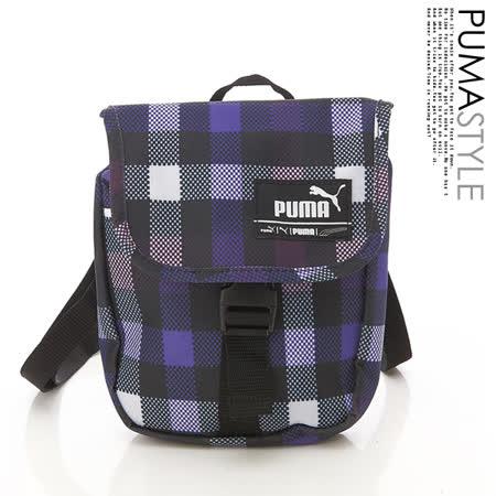PUMA 潮流時尚 Foundation多彩小側背包(繽紛格紋)06911904