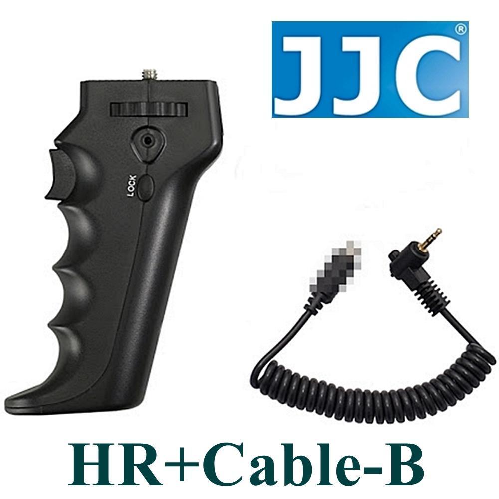 JJC槍把握把手柄快門線遙控器相容尼康Nikon原廠MC-30快門線HR+Cable-B(可換線設計給不同品牌相機)