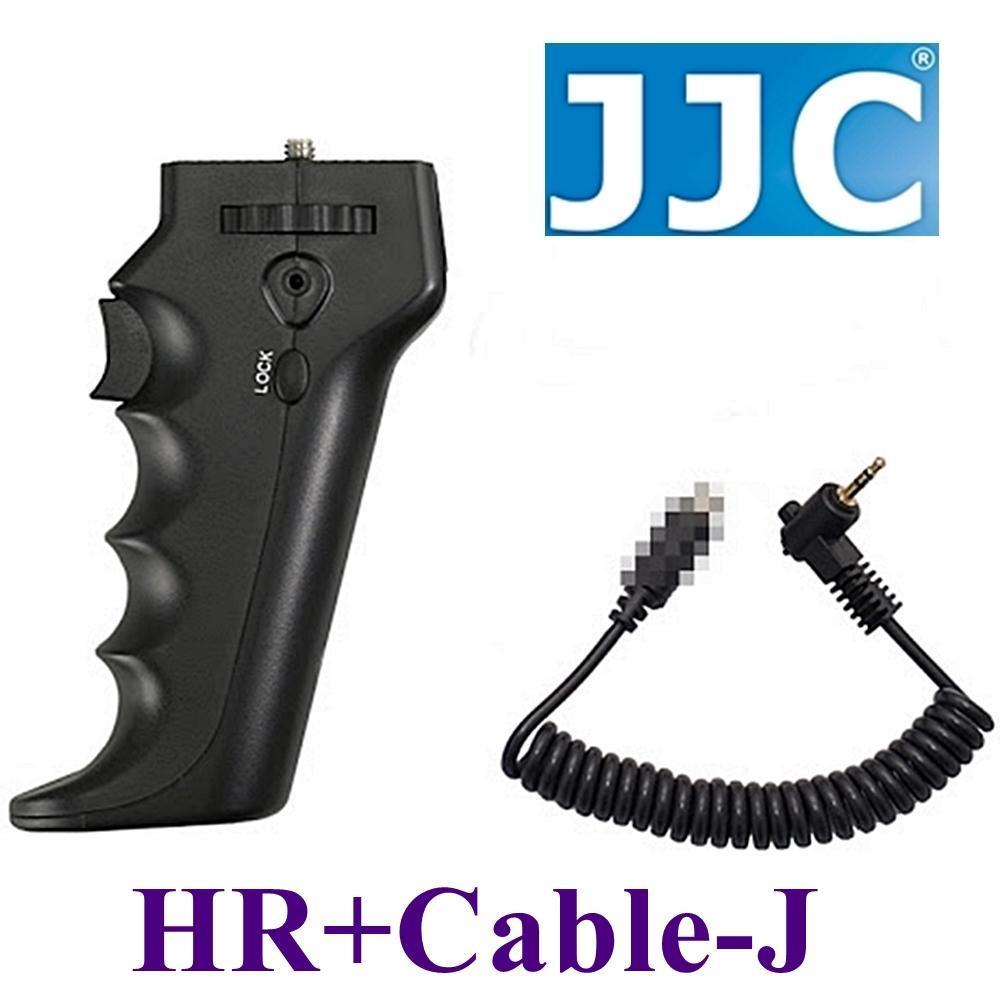 JJC槍把握把手柄快門線遙控器相容奧林巴斯原廠RM-UC1快門線HR+Cable-J(可換線設計給不同品牌相機)