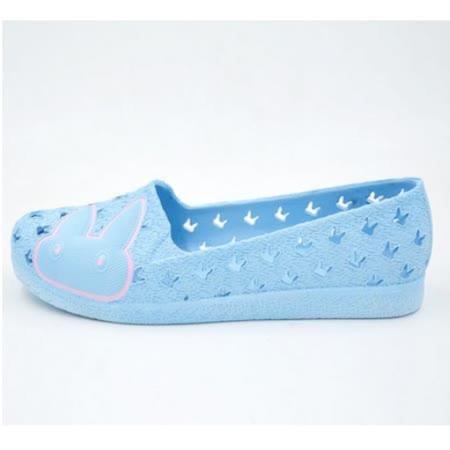 【Maya easy】一體成型防水海灘鞋/居家鞋/休閒鞋/洞洞鞋-小兔天空藍